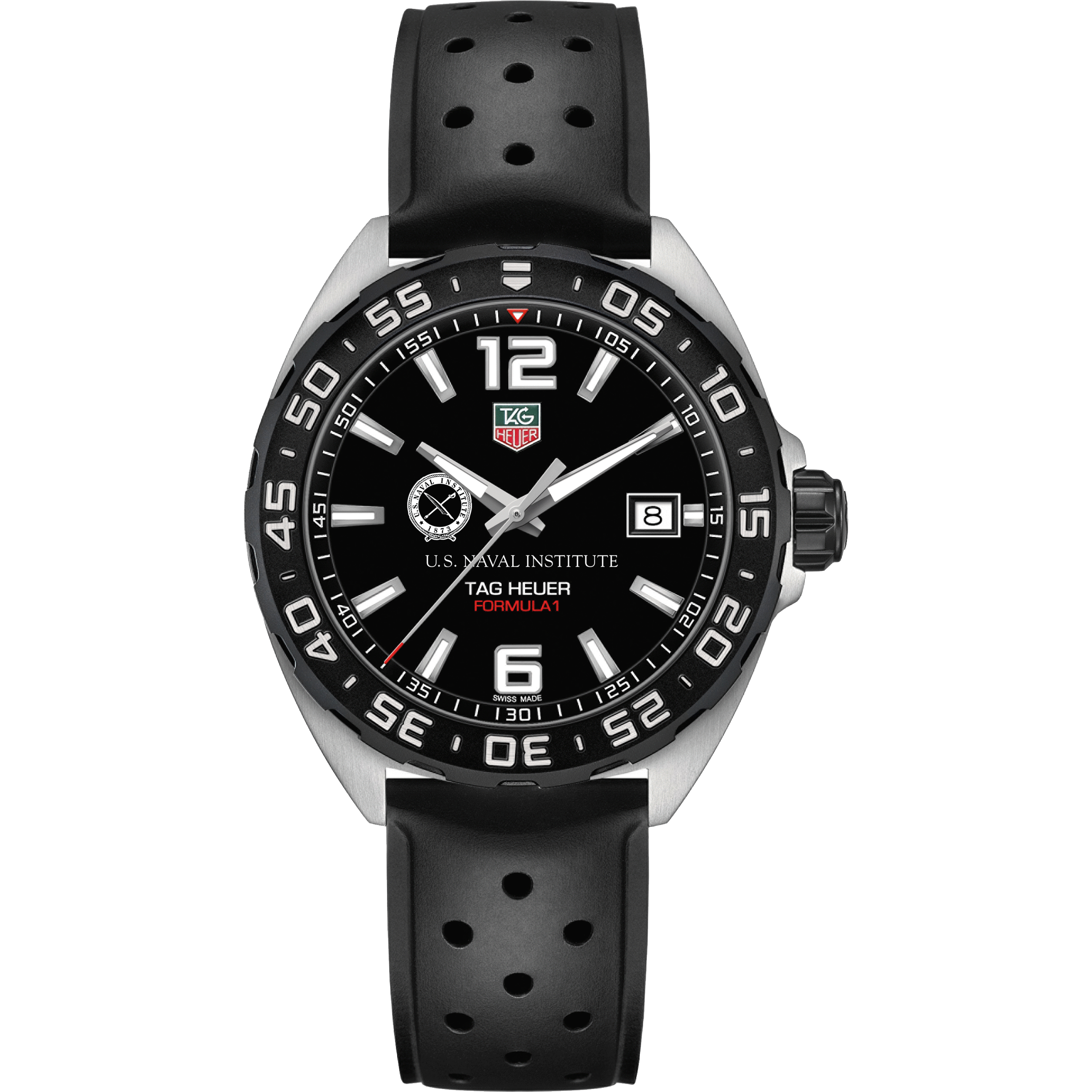 U.S. Naval Institute M's TAG Heuer Formula 1 with Black Dial - Image 2