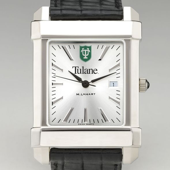 Tulane Men's Collegiate Watch with Leather Strap