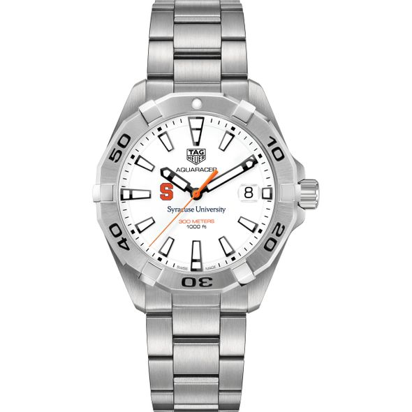 Syracuse University Men's TAG Heuer Steel Aquaracer - Image 2