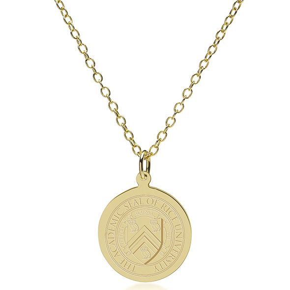 Rice University 14K Gold Pendant & Chain - Image 2