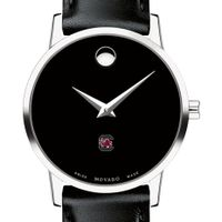 University of South Carolina Women's Movado Museum with Leather Strap