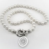 Notre Dame Pearl Necklace with Sterling Silver Charm