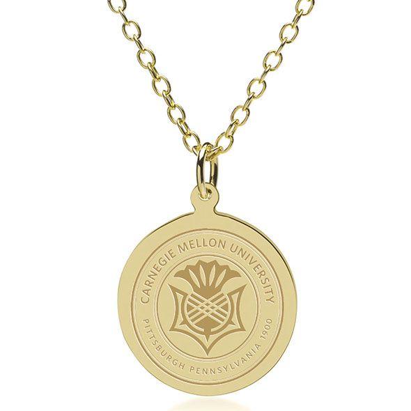 Carnegie Mellon University 18K Gold Pendant & Chain