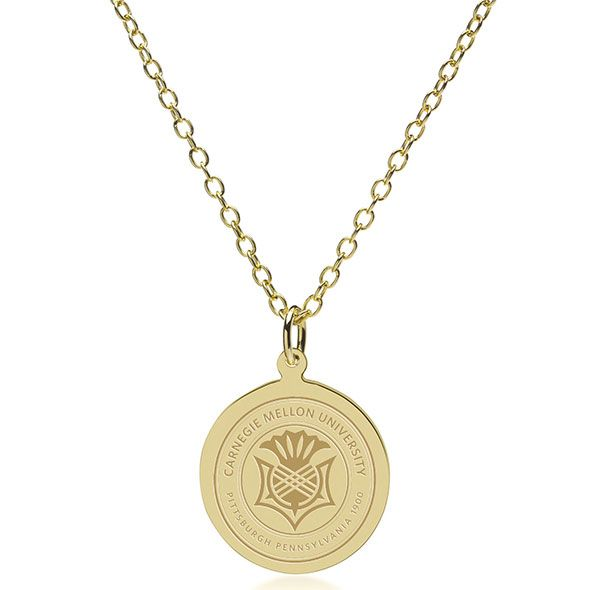 Carnegie Mellon University 18K Gold Pendant & Chain - Image 2