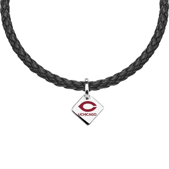 Chicago Leather Necklace with Sterling Silver Tag