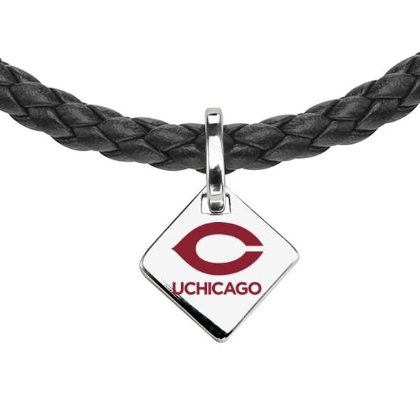 Chicago Leather Necklace with Sterling Silver Tag - Image 2