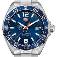 East Tennessee State Men's TAG Heuer Formula 1 with Blue Dial & Bezel