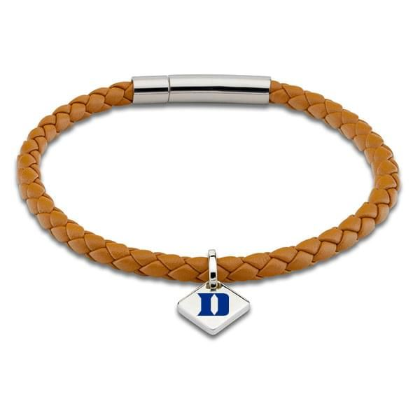Duke Leather Bracelet with Sterling Silver Tag - Saddle