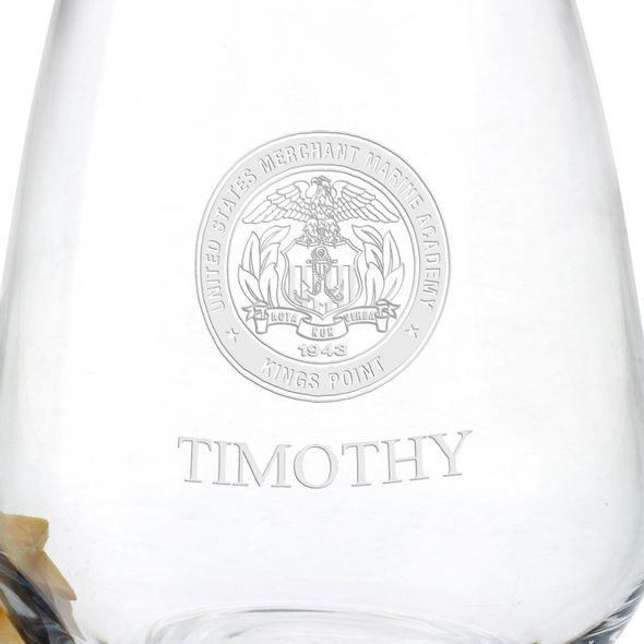 US Merchant Marine Academy Stemless Wine Glasses - Set of 2 - Image 3