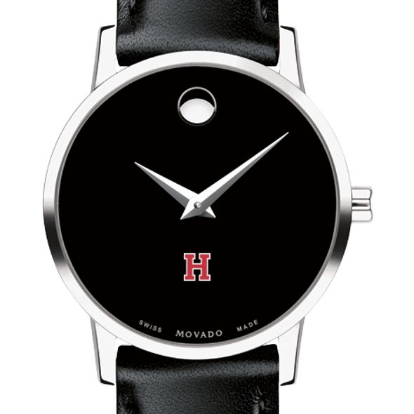 Harvard University Women's Movado Museum with Leather Strap - Image 1