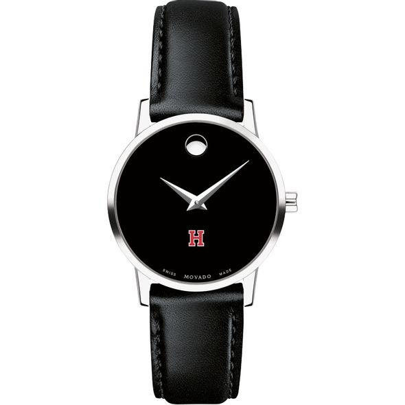 Harvard University Women's Movado Museum with Leather Strap - Image 2