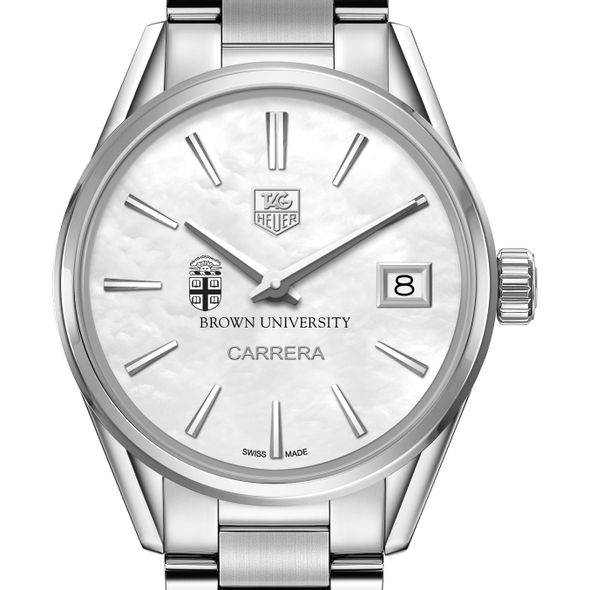 Brown Women's TAG Heuer Steel Carrera with MOP Dial
