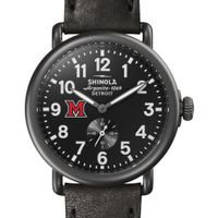 Miami University Shinola Watch, The Runwell 41mm Black Dial