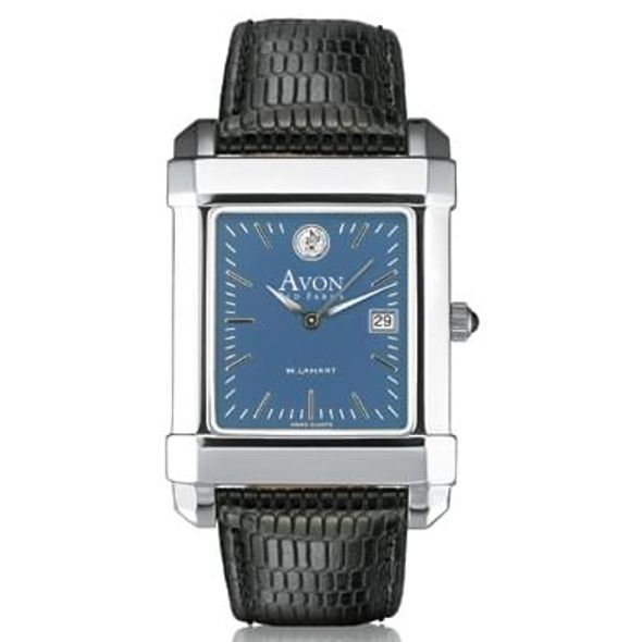 Avon Old Farms Men's Blue Quad Watch with Leather Strap - Image 2