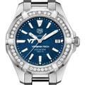 Virginia Tech Women's TAG Heuer 35mm Steel Aquaracer with Blue Dial - Image 1