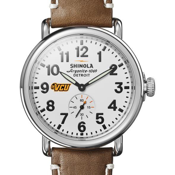 VCU Shinola Watch, The Runwell 41mm White Dial - Image 1