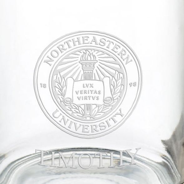 Northeastern University 13 oz Glass Coffee Mug - Image 3