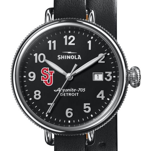 St. John's Shinola Watch, The Birdy 38mm Black Dial - Image 1
