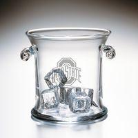 Ohio State Glass Ice Bucket by Simon Pearce