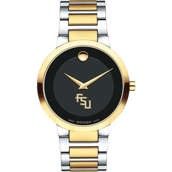 Florida State University Men's Movado Two-Tone Modern Classic Museum with Bracelet - Image 2