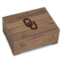 University of Oklahoma Solid Walnut Desk Box