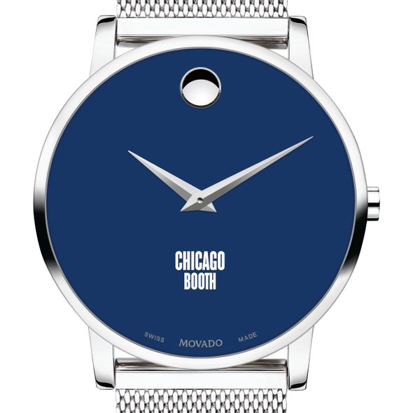 Chicago Booth Men's Movado Museum with Blue Dial & Mesh Bracelet
