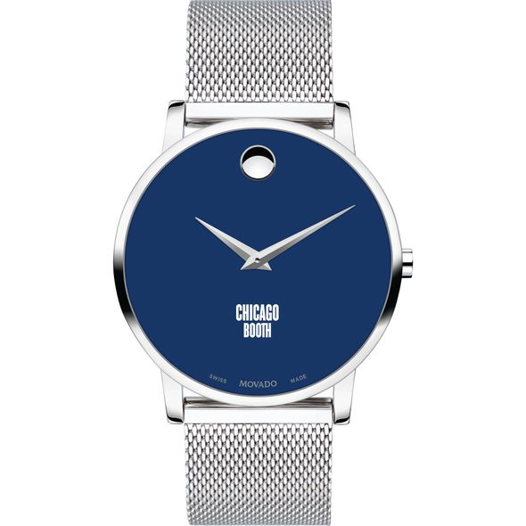Chicago Booth Men's Movado Museum with Blue Dial & Mesh Bracelet - Image 2