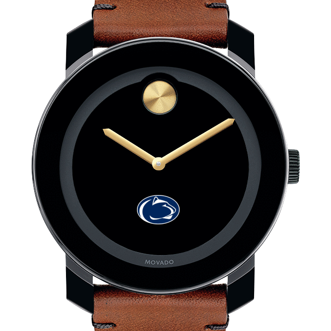 Penn State Men's Movado BOLD with Brown Leather Strap