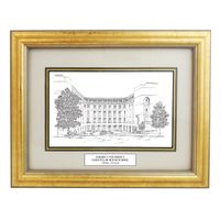 Emory Goizueta Black Ink Gold Frame