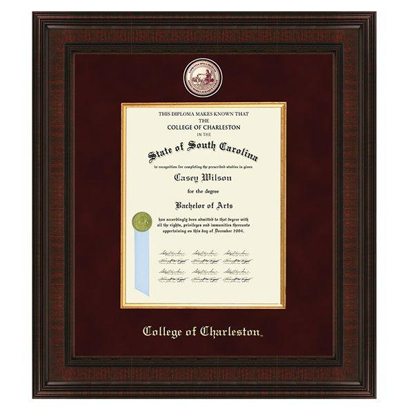 College of Charleston Diploma Frame - Excelsior