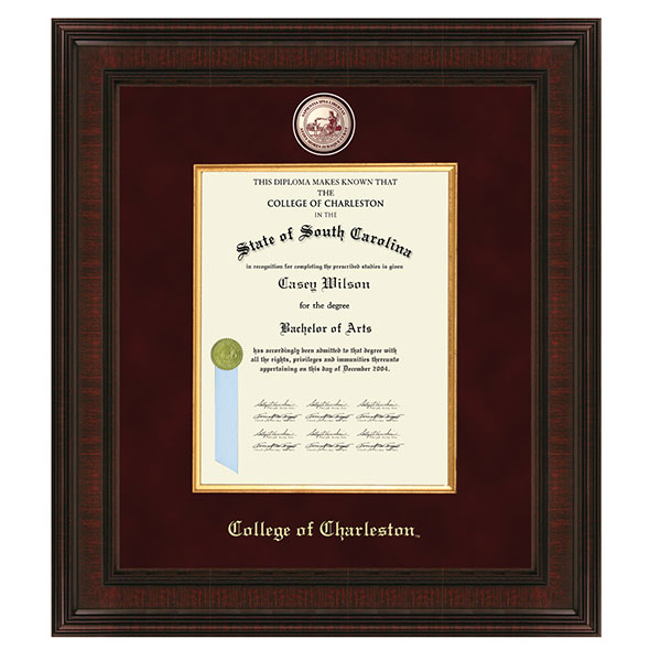 College of Charleston Diploma Frame - Excelsior at M.LaHart & Co.