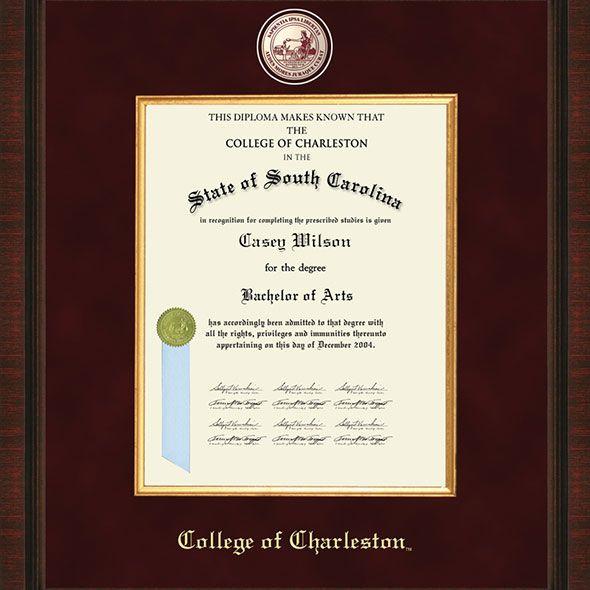 College of Charleston Diploma Frame - Excelsior - Image 2