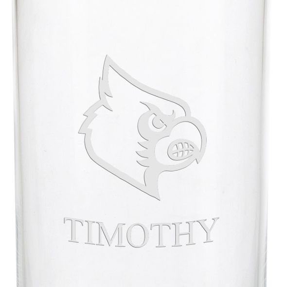 University of Louisville Iced Beverage Glasses - Set of 2 - Image 3