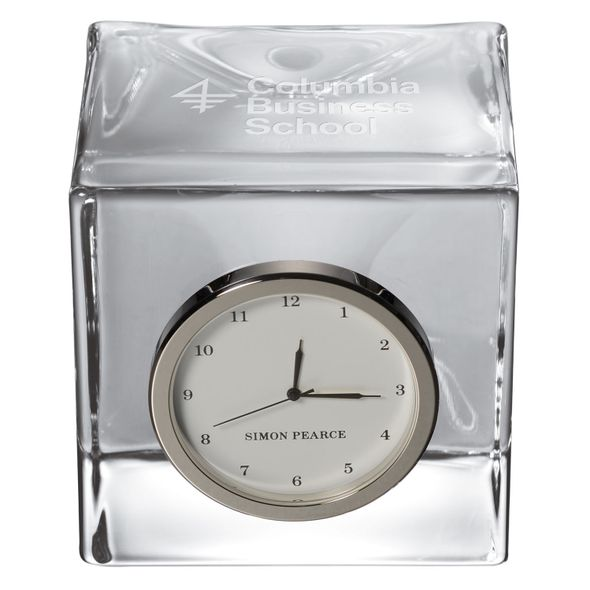 Columbia Business Glass Desk Clock by Simon Pearce - Image 2