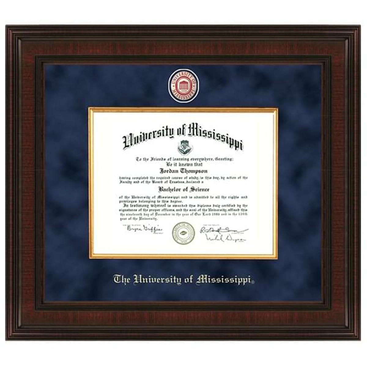 Ole Miss Diploma Frame Excelsior Graduation Gift