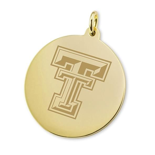 Texas Tech 18K Gold Charm