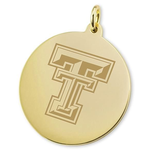 Texas Tech 18K Gold Charm - Image 2
