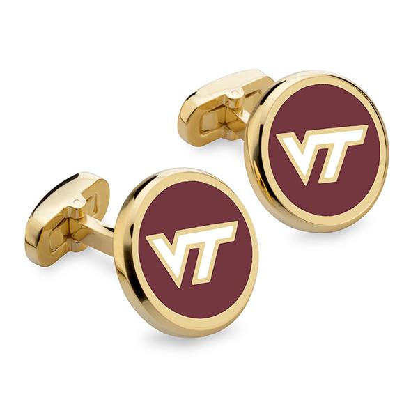 Virginia Tech Enamel Cufflinks