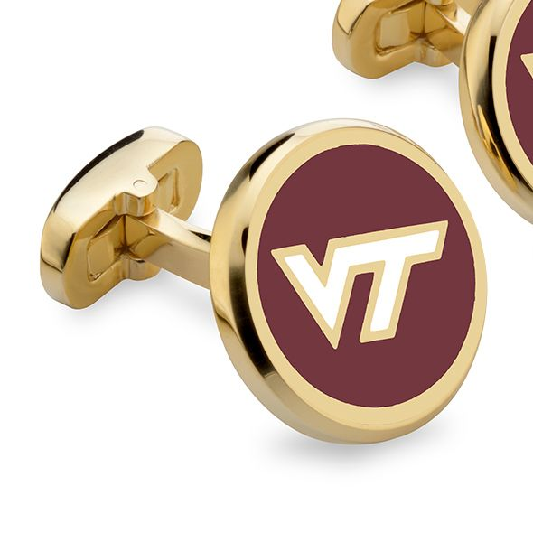 Virginia Tech Enamel Cufflinks - Image 2