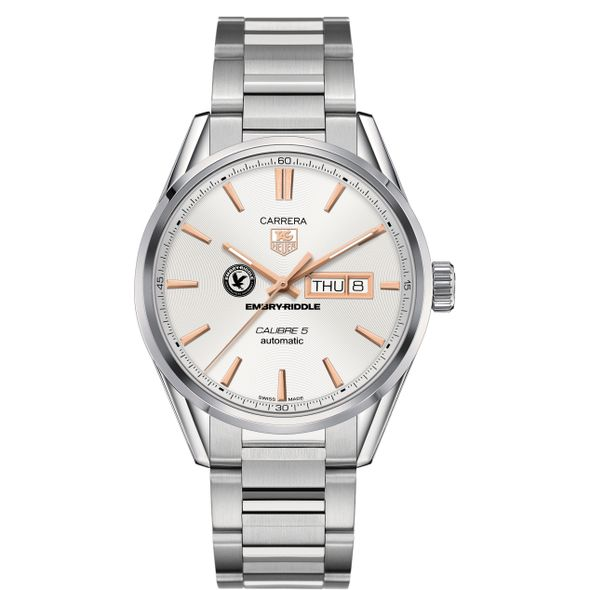 Embry-Riddle Men's TAG Heuer Day/Date Carrera with Silver Dial & Bracelet - Image 2
