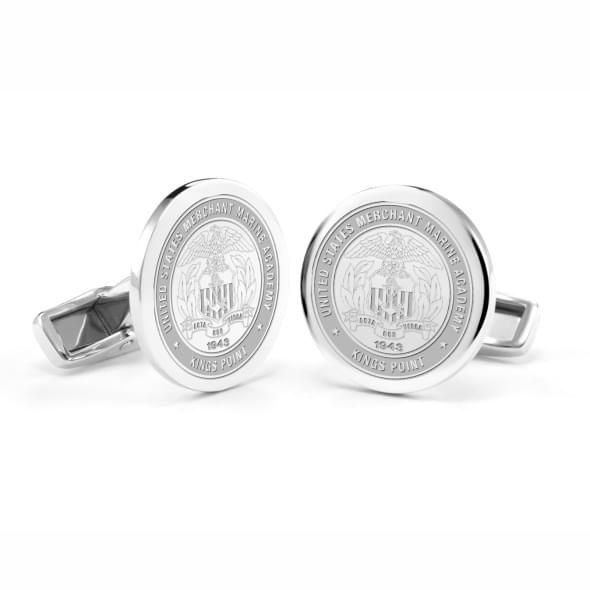 US Merchant Marine Academy Cufflinks in Sterling Silver - Image 1