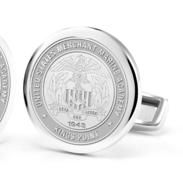US Merchant Marine Academy Cufflinks in Sterling Silver - Image 2