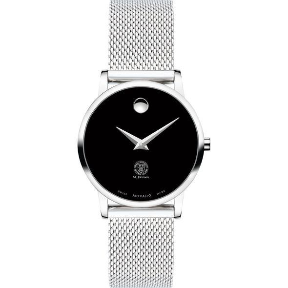 Cornell SC Johnson College of Business Women's Movado Museum with Mesh Bracelet - Image 2