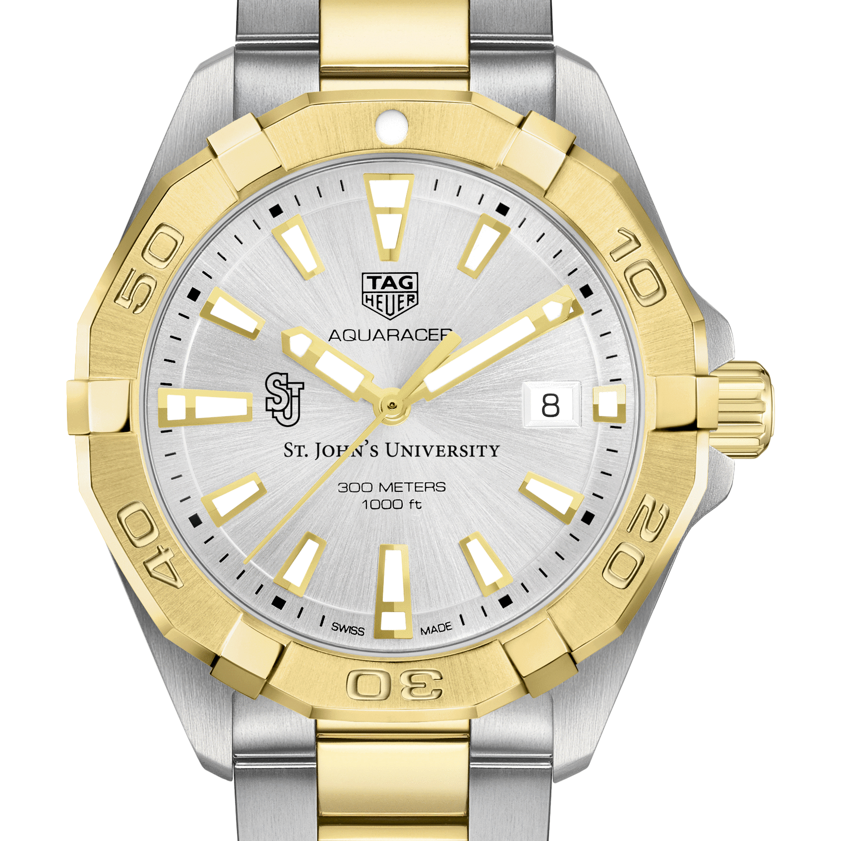 St. John's University Men's TAG Heuer Two-Tone Aquaracer