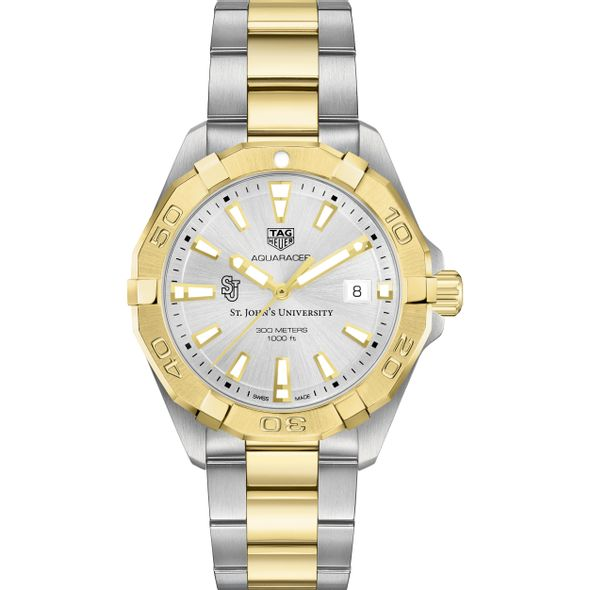 St. John's University Men's TAG Heuer Two-Tone Aquaracer - Image 2