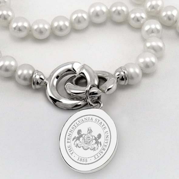 Penn State Pearl Necklace with Sterling Silver Charm - Image 2