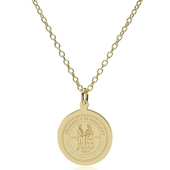 Kentucky 14K Gold Pendant & Chain - Image 2