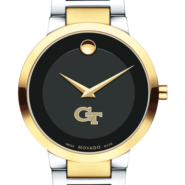 Georgia Tech Men's Movado Two-Tone Modern Classic Museum with Bracelet