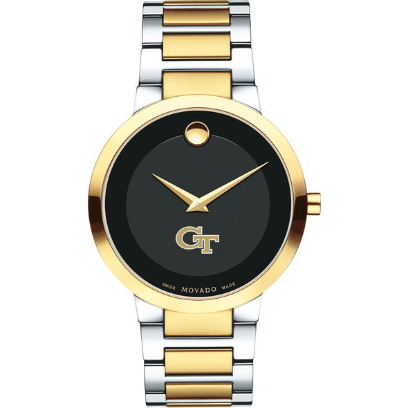 Georgia Tech Men's Movado Two-Tone Modern Classic Museum with Bracelet - Image 2