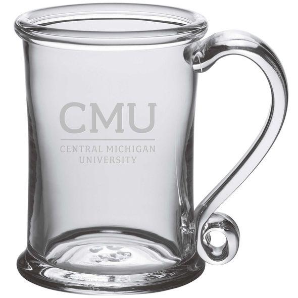 Central Michigan Glass Tankard by Simon Pearce